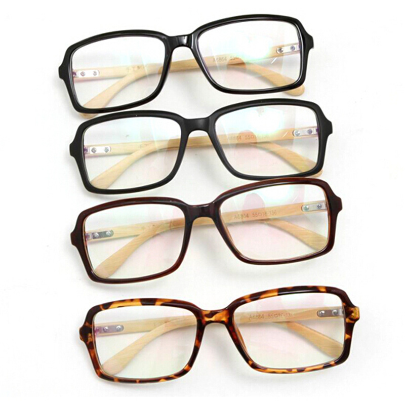 wholesale retail most buy bamboo wooden eyeglasses leisure simplicity optical glasses frame with clear lens spectacle