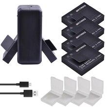 Для 4 шт. 1010 мАч оригинальный Xiaoyi батарея AZ13-1 + USB двойной зарядное устройство для Xiaomi Yi XiaoYi Спорт действий камера DV Cam