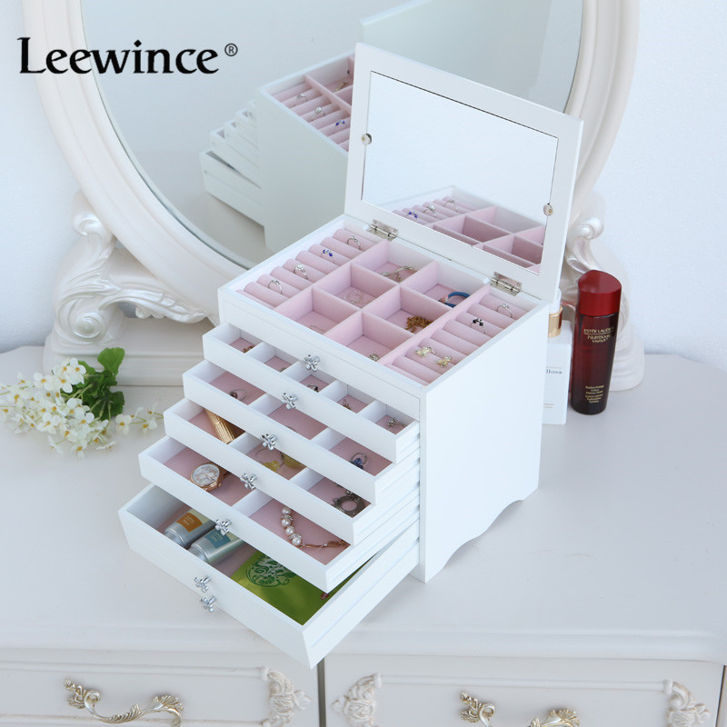 Leewince Custom Wooden Jewelry Makeup Organizer E0 E1 Mdf: High Quality Wood Bin Promotion-Shop For High Quality