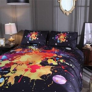 Image 2 - LOVINSUNSHINE Juego de ropa de cama con diseño de galaxia colorida, funda nórdica con funda de almohada, tamaño King y Queen, universo, 2 uds./3 uds.
