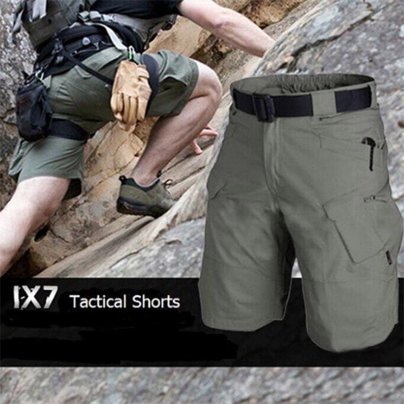 Verão Camuflagem Shorts de Carga Solta Homens Camo Shorts da Carga de Verão Calças Curtas Homme