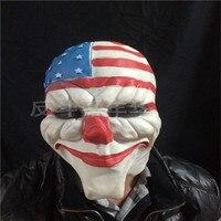 Латекс маска партии театр масок оптовая продажа страшный Клоун Маска Payday 2 Хэллоуин Джокер маска для партии Тушь для ресниц карнавал Косплэ...