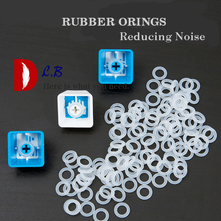 Cherry MX Keycap Rubber O-Ring Switch Dampeners 40A-R Blue 125pcs