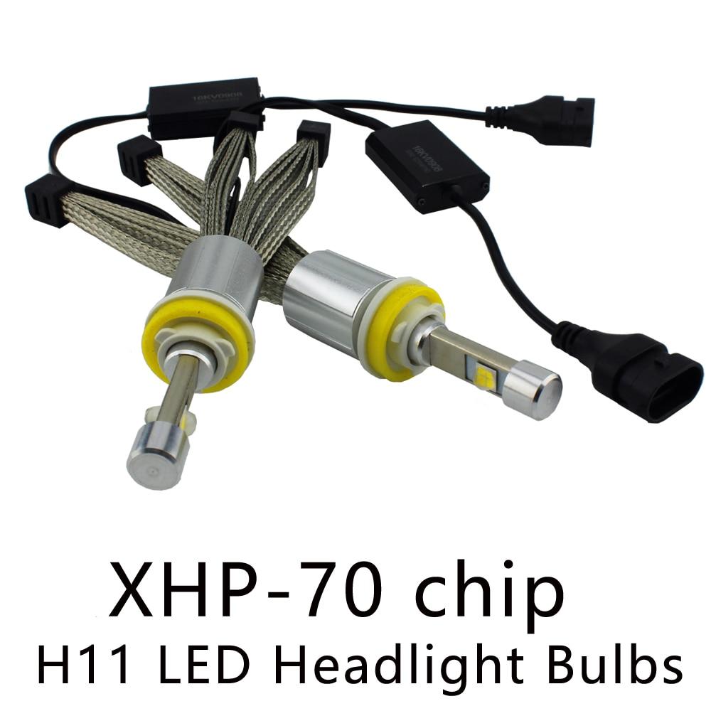 Ocsion P70 H8 H9 H11 светодиодные фары 55 Вт <font><b>6600lm</b></font> лампы 5000 К 6000 К Авто Фары для автомобиля фары автомобильной фонарь <font><b>H4</b></font> H7 HB3 HB4