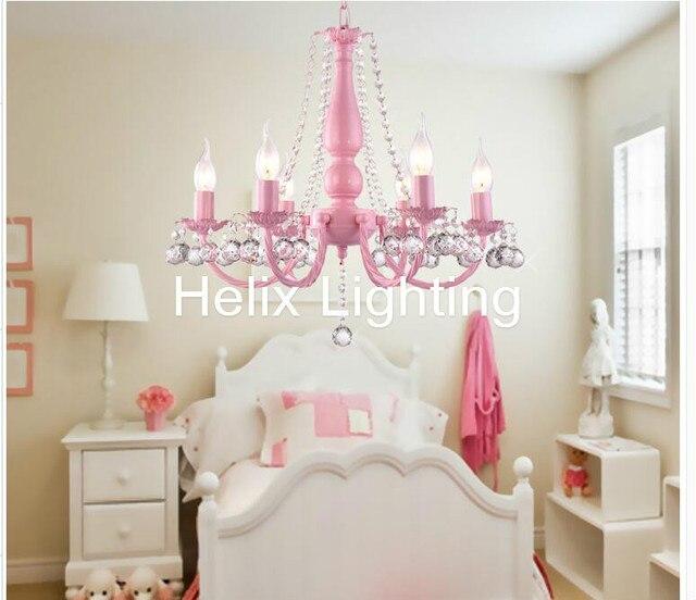 Decorative D57cm Pinky Lovely Children S Bedroom Chandelier American Garden E14 Decoration Design Lighting