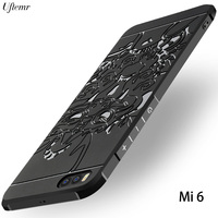 Xiaomi Mi6 Case Uftemr Xiaomi Mi 6 Back Cover 3D Carved Dragon Soft Silicone Phone Fundas