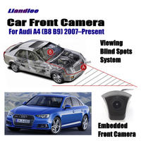 Liandlee Car Front View Camera For Audi A4 (B8 B9) 2007 Present 2018 2017 / 4.3 LCD Screen Monitor / Cigarette Lighter Switch