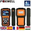 Scanner de diagnóstico auto foxwell nt414 scanner automotivo 4 sistemas para ecu airbag abs e transmissão mesmo launch creader viii