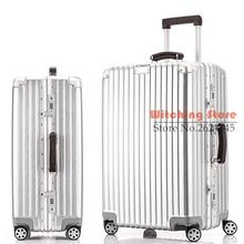 26 INCH 20242628# The new universal wheel trolley suitcase retro waterproof aluminum frame box trunk one generation