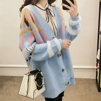 2019 Spring Women Cardigans Sweater Coat Fashion Ladies Knitted Outwear New Arrival Korean Cotton Sweaters Oversized