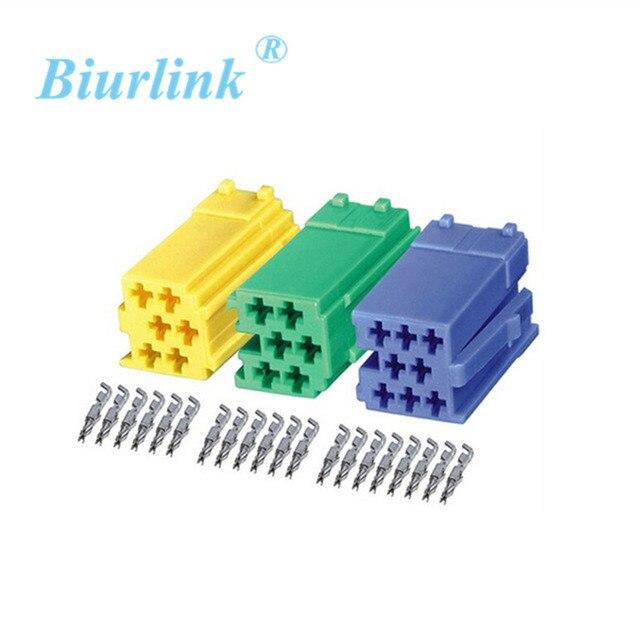 Auto Audio Kabel Teile Mini ISO Männlichen Terminal Block Anschluss ...