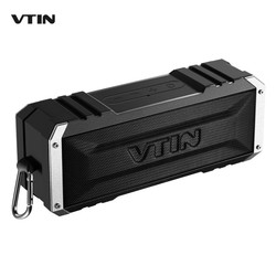 VTIN Portable Wireless Bluetooth 4.0 Speaker 20W Output from Dual 10W Drivers Waterproof Speaker Bass Outdoor with Aux cable