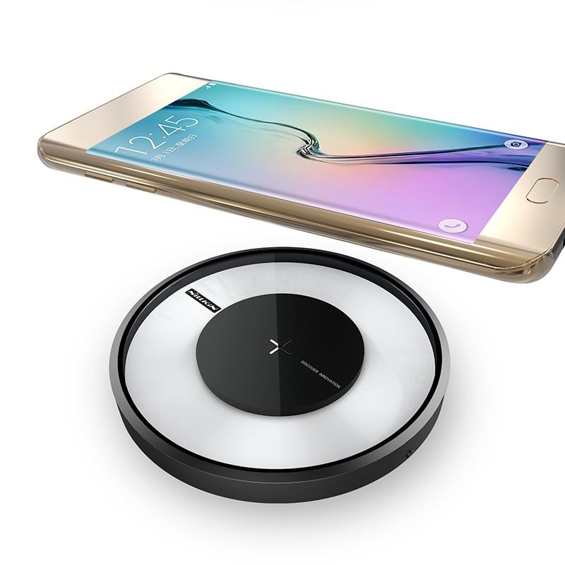 NILLKIN Magia disk 4 fast charger per samsung S9 S8 S8 più Qi Pad Wireless di Ricarica Veloce per la Galassia S7/S7Edge/Note 5/Note 8