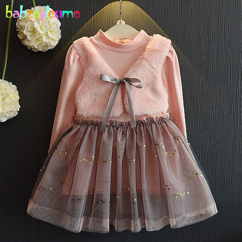 2-6years/Платье для маленьких девочек на весну и осень милые розовые Кружево-пачка принцессы Платья для женщин костюмы для детей Детская одежда...