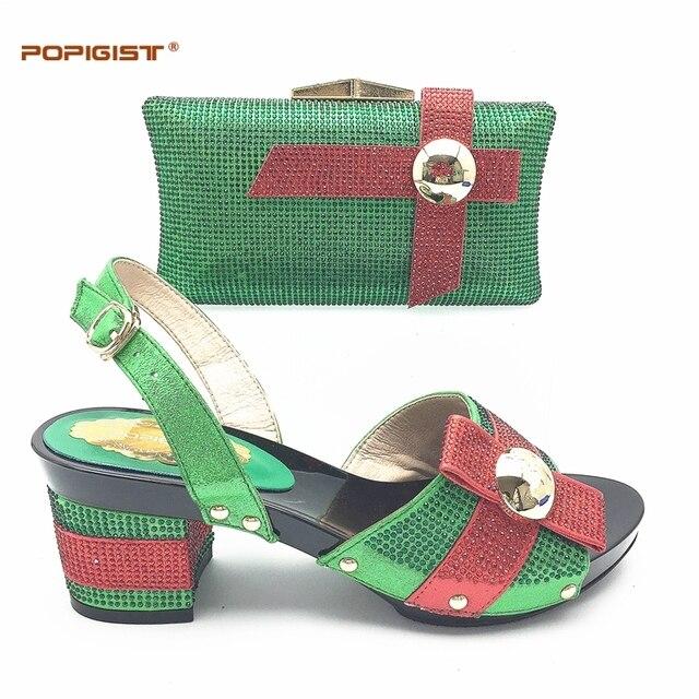d167f5af5fa 7 cm Talons De Mariage Confortables Dames Chaussures avec Sac Assorti Set  Nigériane chaussures et Sac