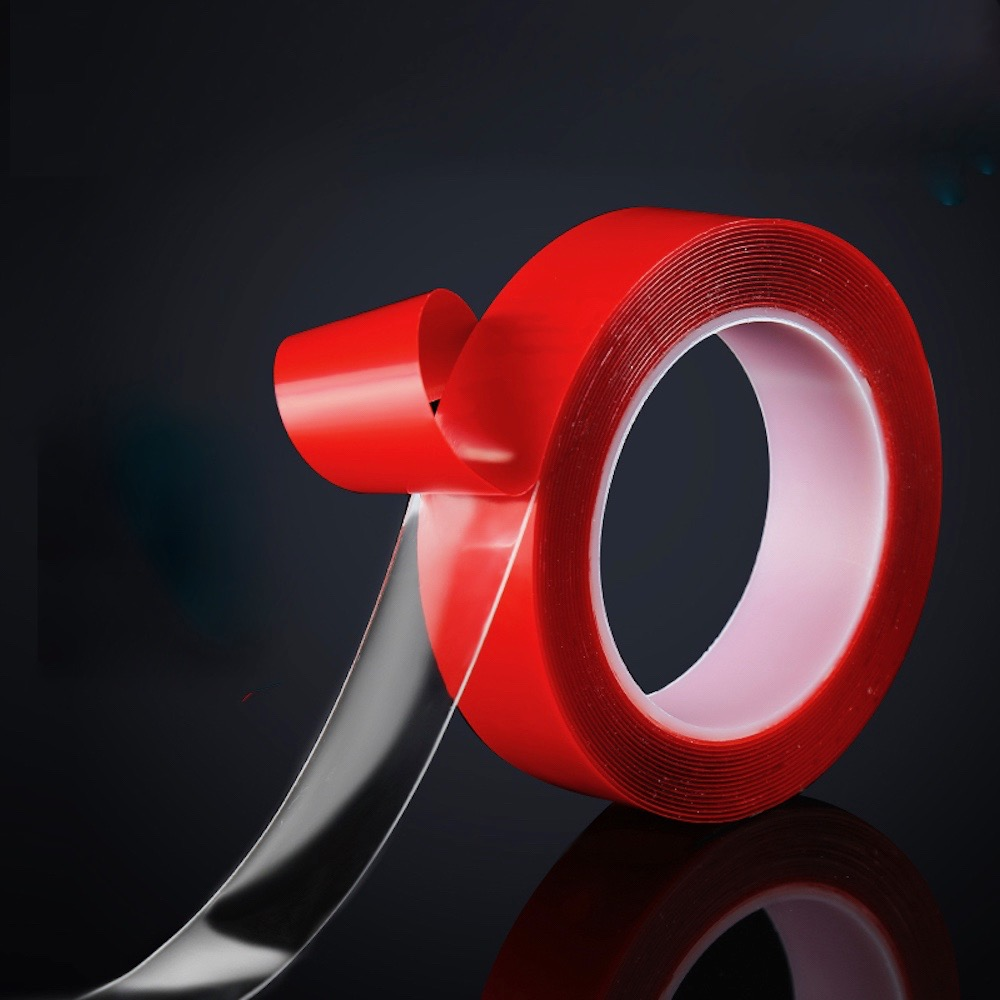 Double Sided Adhesive PET Tape 0.2mm <font><b>x</b></font> 2/3/4/<font><b>5</b></font>/6/<font><b>8</b></font>/10/12/<font><b>15</b></font>/18/20/25/30/<font><b>35</b></font>/40/45/50mm 10m Traceless Waterproof Transparent