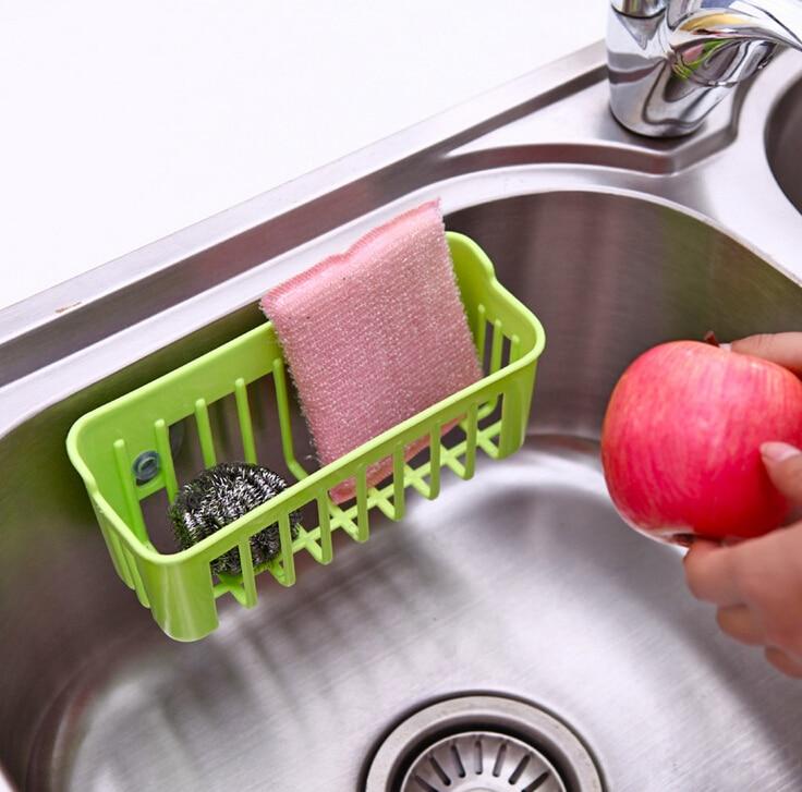 Nueva Taza de la Succión Doble Lavado de toallas Estante Fregadero de Drenaje Es