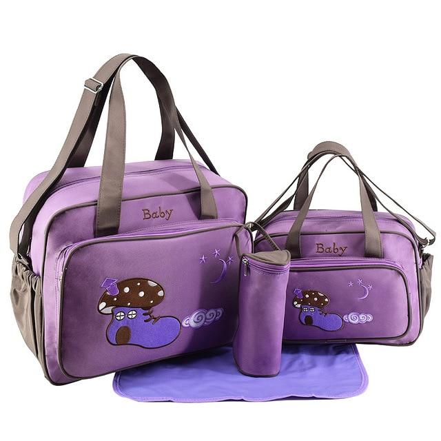 4pcs Baby Diaper Nappy Bags For Mom Mommy Handbag Stroller Accessories Bag Maternity Nappy Bag Diaper Bag Sets Bolsa Maternidade