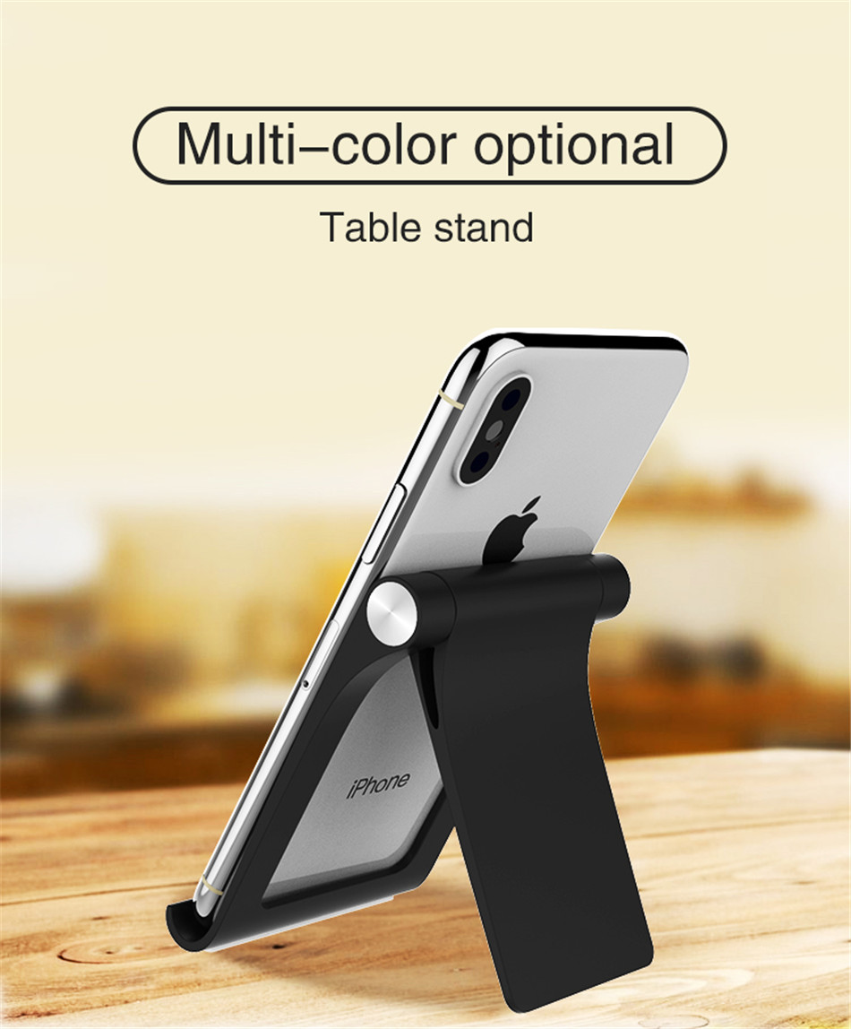 Universal Adjustable Phone Holder Stand For 7 8 Plus X Mobile Phones Hard PC Folding Tablet Stand Holder For S9 (1)