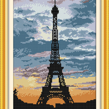 The tower at dusk Paris scenery Crafts Cross Stitch Kit DMC