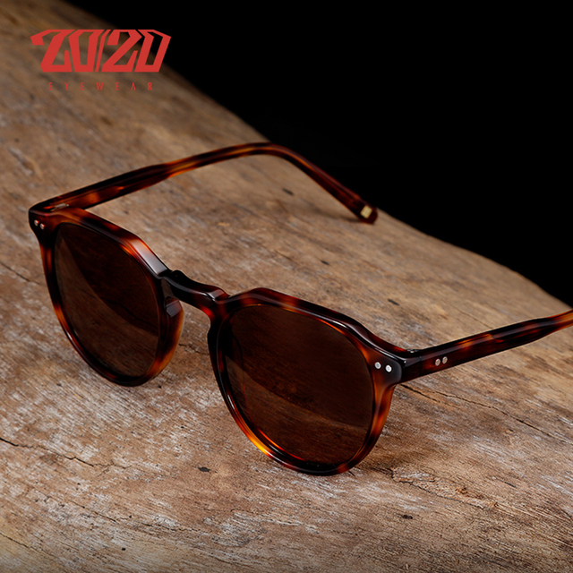 b8e8247a33f 20 20 Brand Unisex Acetate Sunglasses Men Travel Round Sun Glasses For  Driving Shades Fishing Eyewear Oculos AT8039