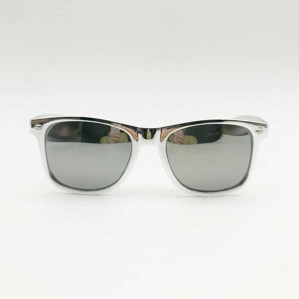 50 pares de gafas de sol de plata con protección UV Retro con lente de espejo personalizado regalos de devolución de invitados de boda regalos para tiempo de fiesta
