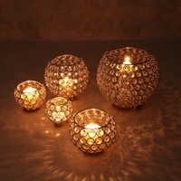 Candelabros de Metal farol de cristal para Vela, candelabros de cristal marroquí, decoración de la boda del Hogar, Hogar, mesa de fiesta moderna
