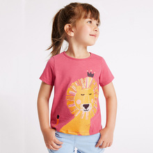 Summer Stylish T-shirt for Children 2019 New Fashion suit with animal pattern Casual girls boys