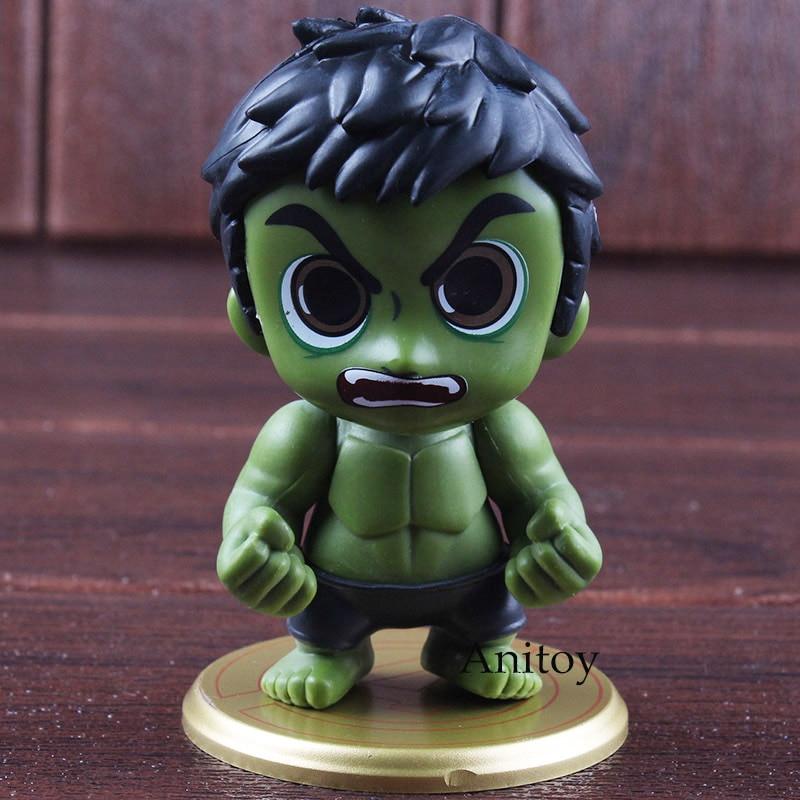 Marvel Avengers Infinity War Action Figures Superhero Hulk Bobble Head Figure PVC Car Decoration Home Collectible Model Toy 9cm 1