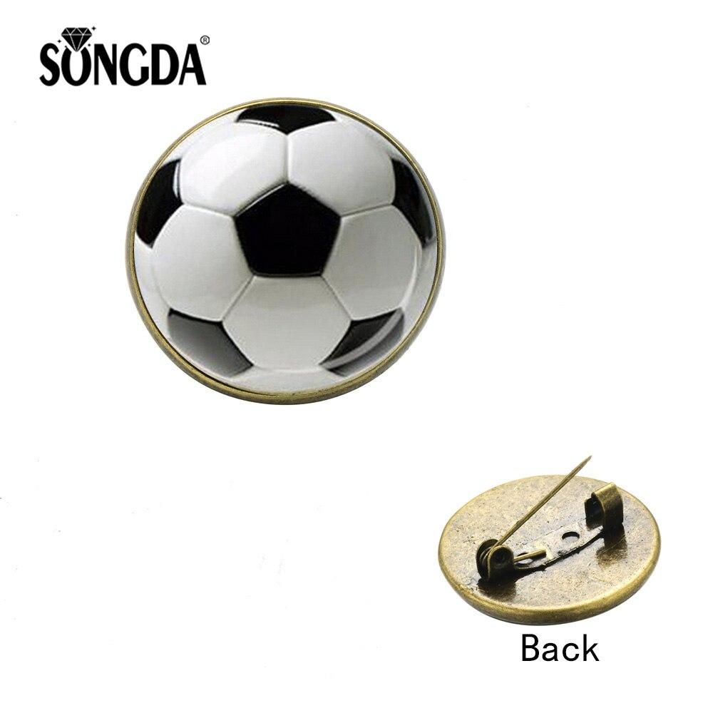 Sport Football I LOVE Soccer RED HEART Vintage Enamel METAL PIN ...