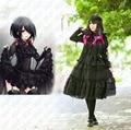 Дата живая Tokisaki каруми черный ну вечеринку платье косплей аниме костюм