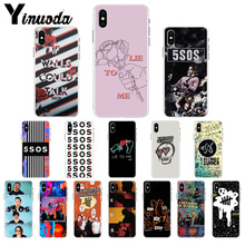 купить Yinuoda 5Sos band YOUNGBLOOD 5 Seconds of Summer TPU Phone Case Cover Shell for iPhone 5 5Sx 6 7 7plus 8 8Plus X XS MAX XR по цене 50.8 рублей