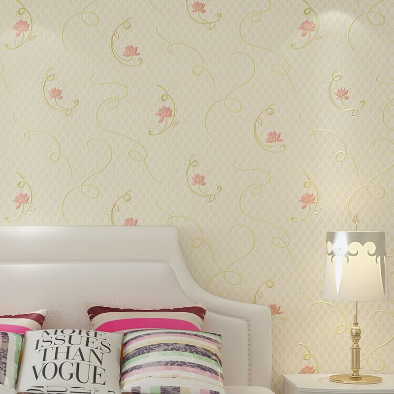 PAYSOTA Pastoral Style Wallpaper Bedroom Living Room Ssimple Pink Yellow Blue Green Wall Paper Home Decoration paysota pink wallpaper romantic bedroom living room pure color children room wall paper roll