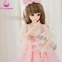 UCanaan 60CM BJD SD Girl Dolls 18 Joints Ball BJD Doll With Wedding Dress Shose Wigs Makeup Outfit Toys For Girls Christmas Gift