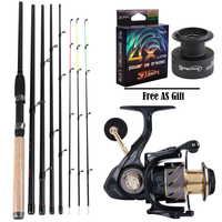 Sougayilang 3.6M Feeder High Carbon Rod Sets with 13+1BB Spinning Reel Fishing Rod Combon Feeder Rod Combos Pesca