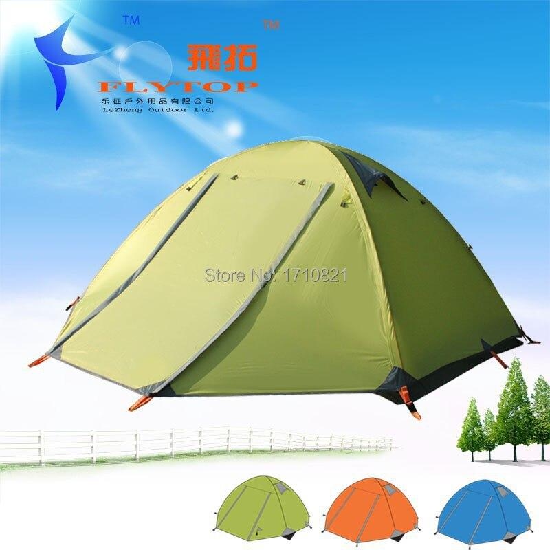 цена Good quality Flytop double layer 3 person 4 season aluminum rod outdoor camping tent в интернет-магазинах