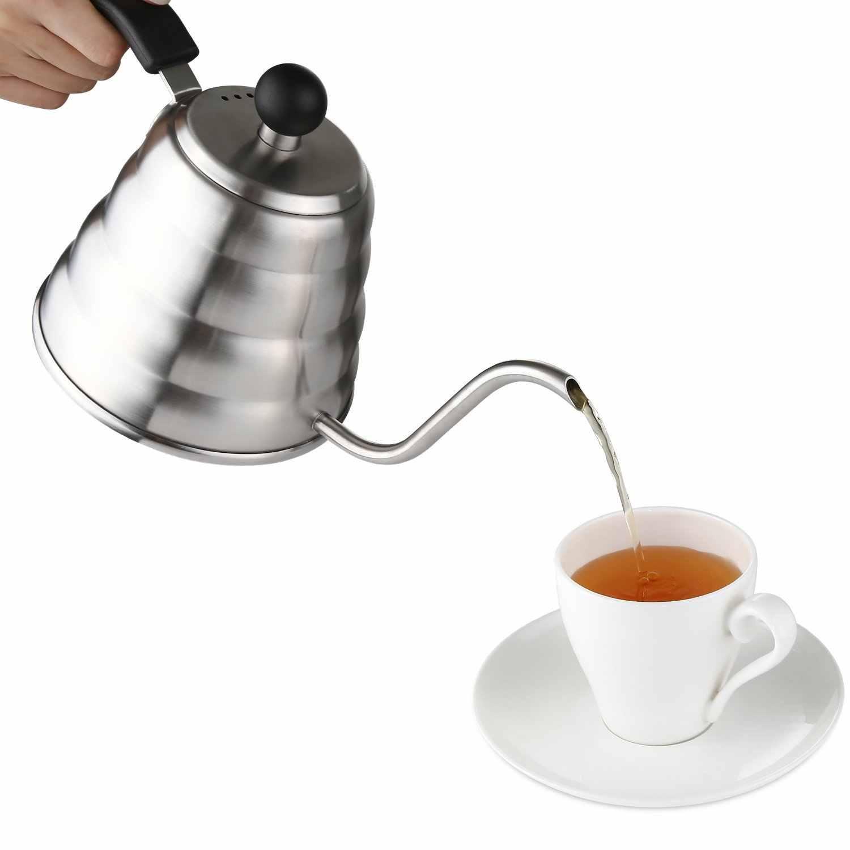 Кофе залить чайник-Нержавеющаясталь чайник с носиком для капельного Кофе Maker, 1.2L