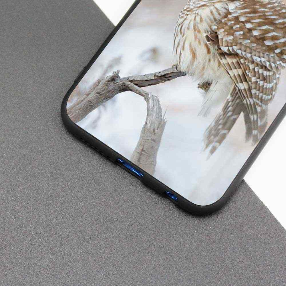 Saco preto Macio Silicone Case Capa para Huawei honor 8X 8C 8A 10 20 Y6 Y9 2019 Lite Jogar Desfrutar 9S 9E 20i Queda Telefone Coruja Gato Anima