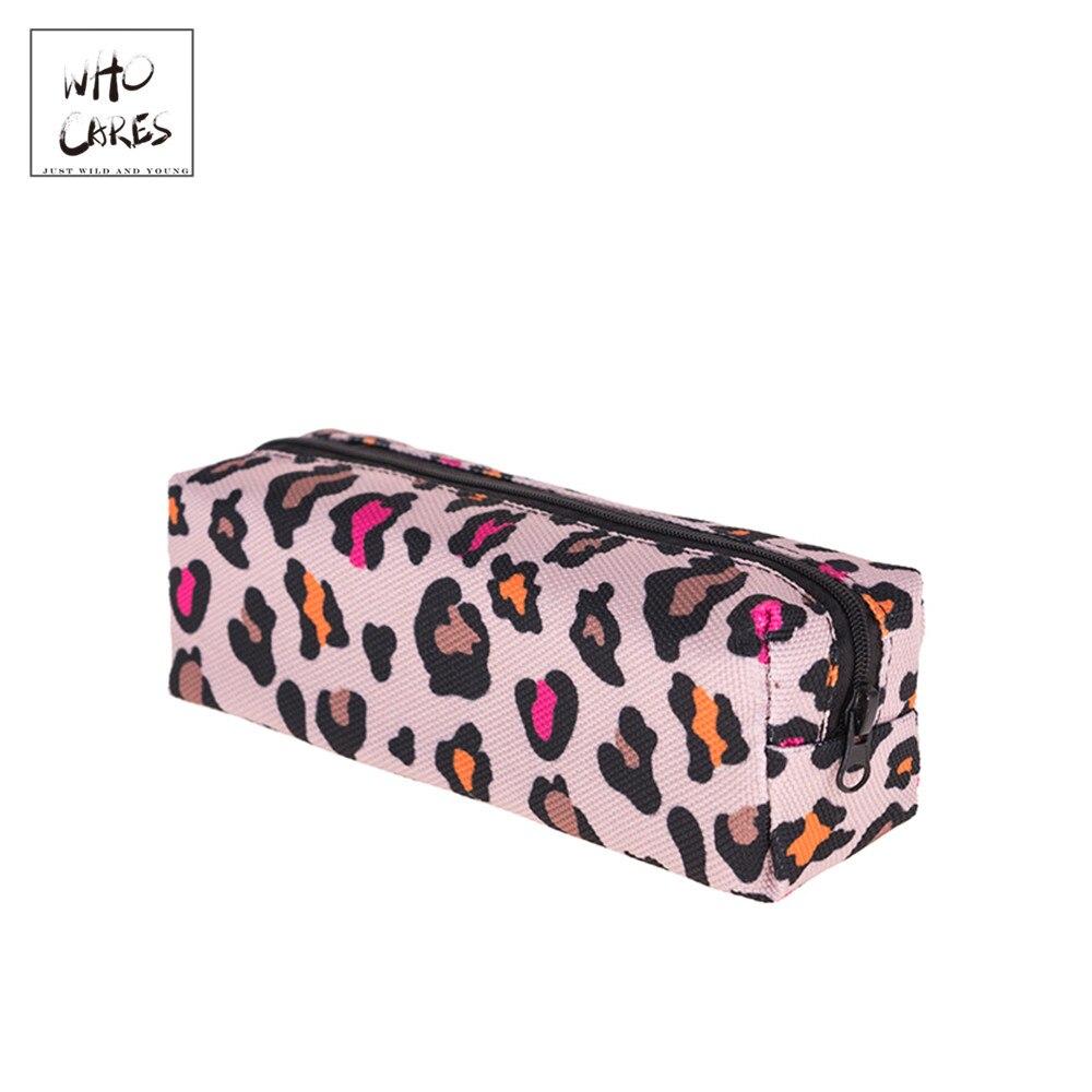 Bags Pencil-Case Cusmetic-Bags Zipper Lrregular-Printing Who Cares Fashion Leisure Simple