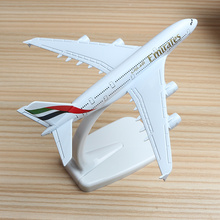 16cm United Arab Emirates A380 Airline Plane Model Airbus Emirates Alloy Aviation A380 Aircraft Airplane Model Stand Craft 1:400 стоимость