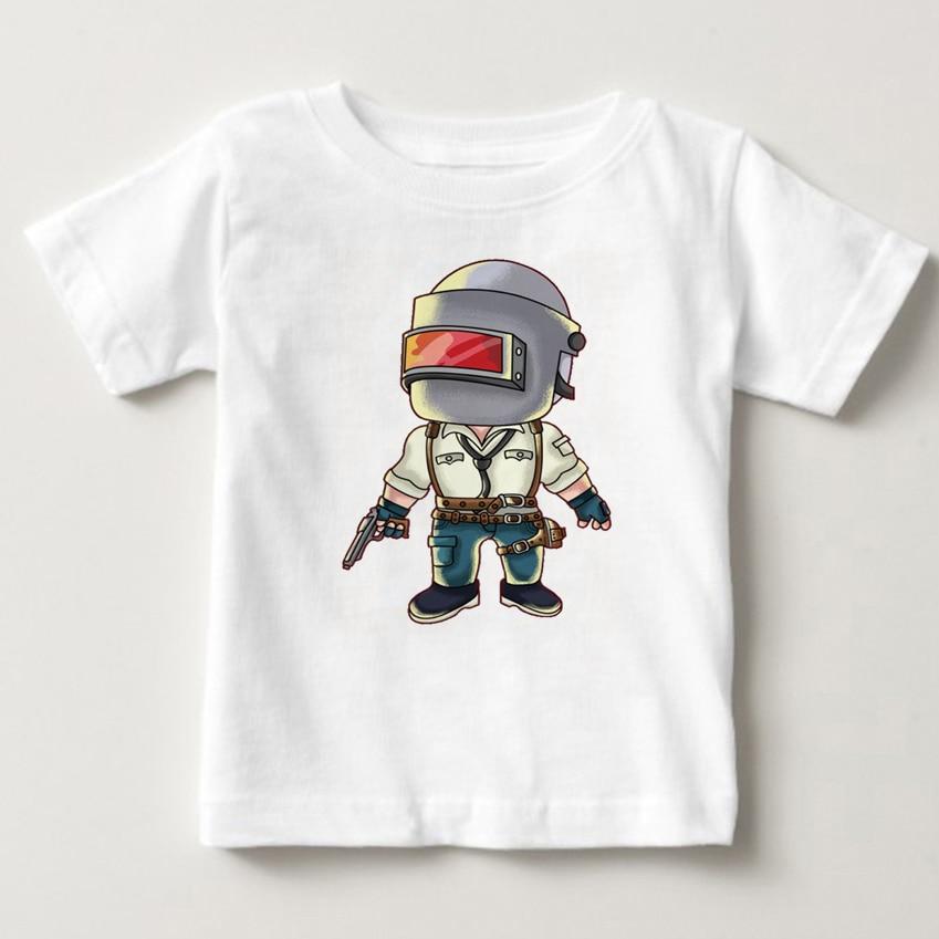 playerunknown s battlegrounds Pubg Battlegrounds t-shirt children casual tshirt fashion boy short sleeve 3T-8T kids T shirt MJ