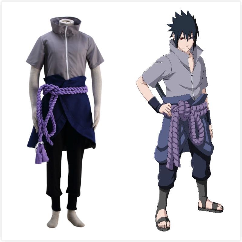 Anime Naruto Cosplay Costume Sasuke Uchiha Ninja Sasuke -3638
