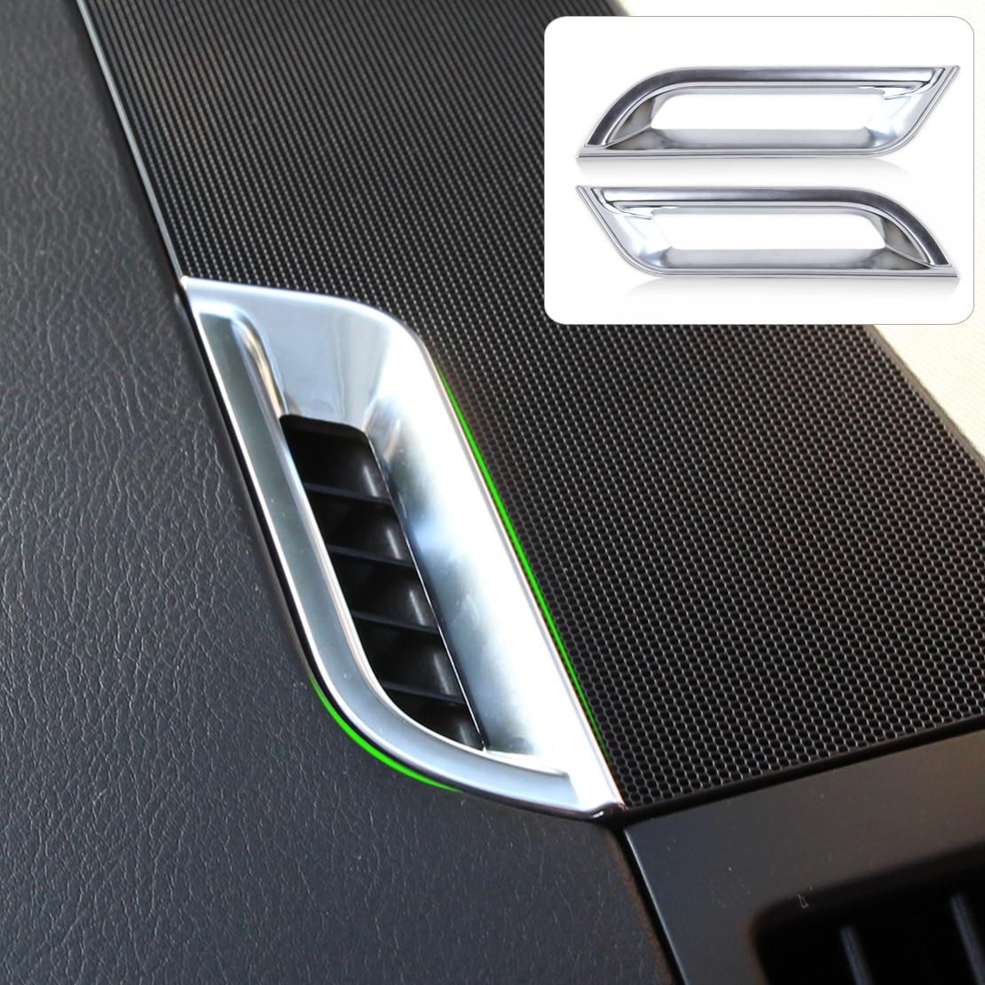 dwcx car styling 2pcs chrome dashboard ac air vent trim cover for land rover freelander 2 lr2. Black Bedroom Furniture Sets. Home Design Ideas