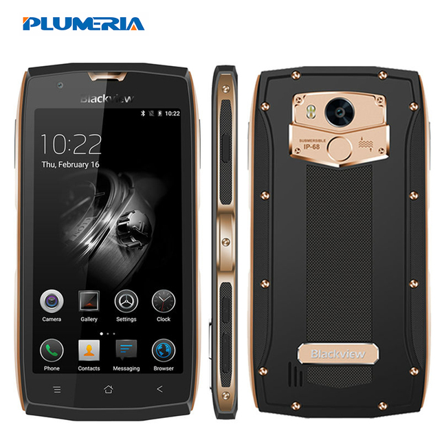 "2017 Blackview BV7000 Pro IP68 Waterproof MT6750T Mobile Phone Octa Core 5.0 "" FHD 4G+64G Fingerprint GPS Glonass 4G 3500mAh"