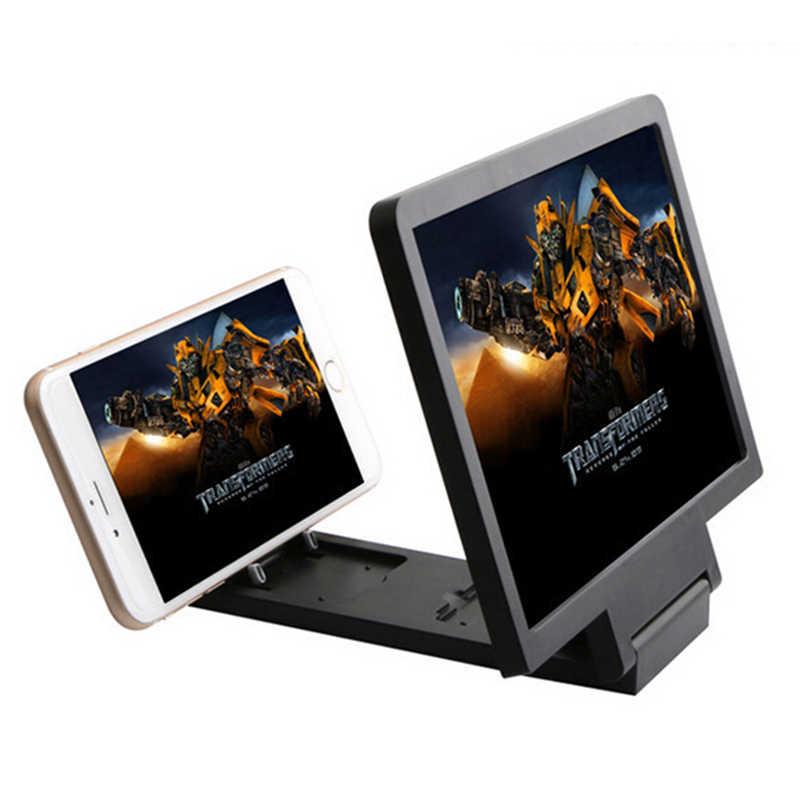JETTING 3D película pantalla ampliar lupa HD proyector portátil plegable soporte teléfono móvil lente para teléfono inteligente teléfonos