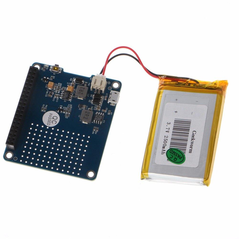 CHAPÉU UPS 3 Bordo Módulo de Bateria de Lítio 2500mAh Para Raspberry Pi Modelo B/Pi 2B/B + /A + Atacado & Dropship