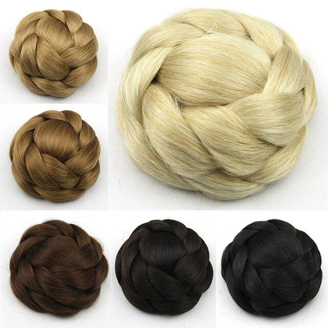 Us 805 49 Offwłosy Syntetyczne Hairpiece Delikatne Rosja Kobiety Bun Updo Fryzury Na Wesele Pleciony Włosy ślubne 1 Pc Sprzedaż W Włosy