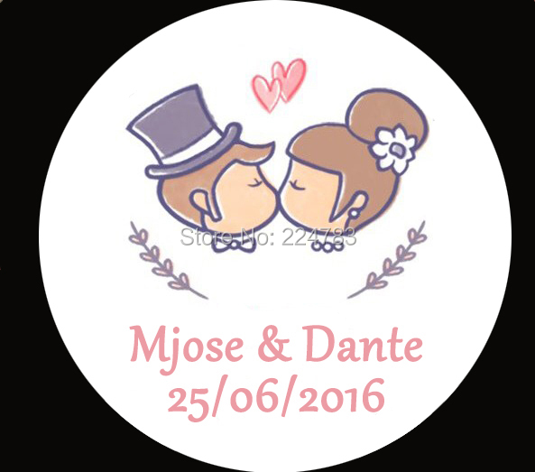 Personalized Wedding Stickers Cheap Personalized Wedding Favors