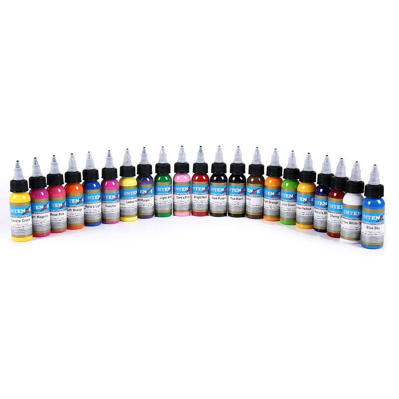 21pcs Permanent Body Paint Color Makeup Tattoo Ink Pigment Set 1oz/Bottle For Tattoo Artist Ink Set Supplies21pcs Permanent Body Paint Color Makeup Tattoo Ink Pigment Set 1oz/Bottle For Tattoo Artist Ink Set Supplies