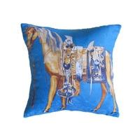 Luxury Chenille Horse High Quality Comfortable Cushion Cover Animal Pillow Cover Pillowcase Home Decorative Sofa Throw Pillows